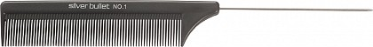 Silver Bullet Carbon Metal Tail Comb